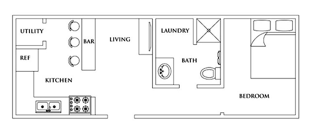 Tiny Home 12x32 Floor Plan